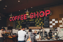A busy coffee shop.