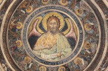 Ceiling mural of the Archangel Gabriel.