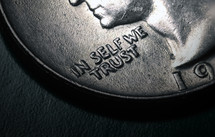 In self we serve on a coin