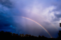Double rainbow after a passing storm, Piedmont of North Carolina
