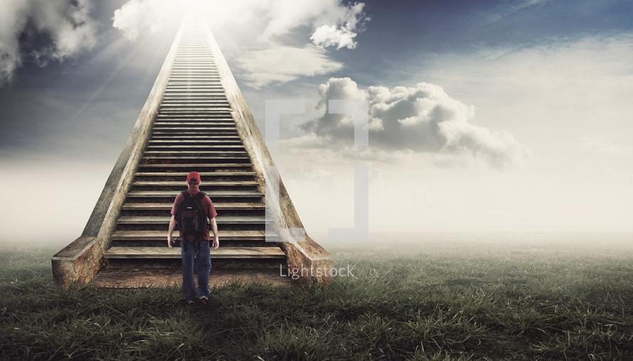 Resultado de imagen de walking up to the heaven