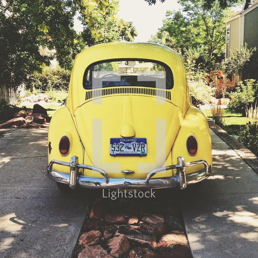 Old Volkswagen beetle car