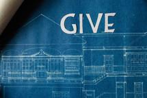 word give on blueprints