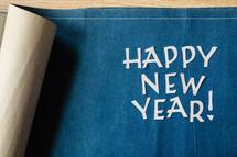 Happy New Year on blueprints