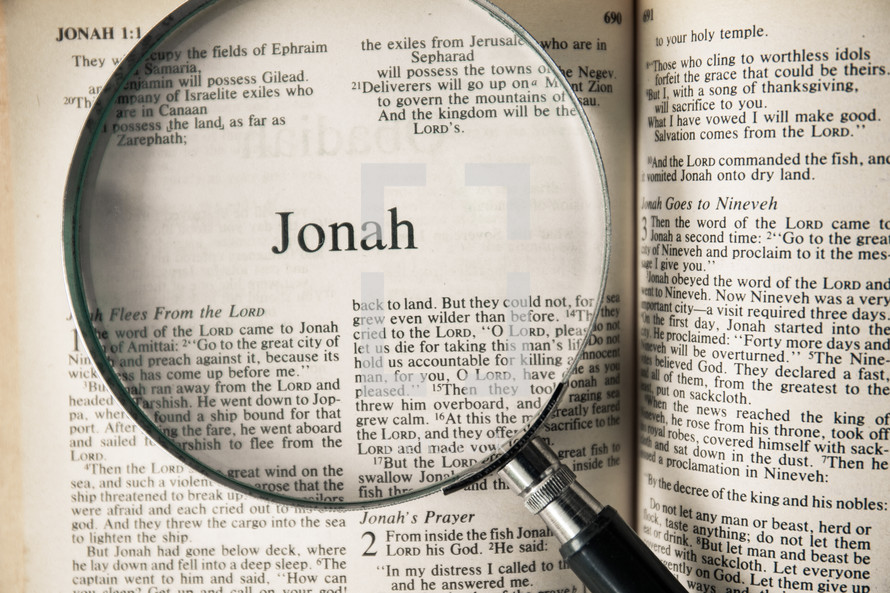 Jonah under a magnifying glass