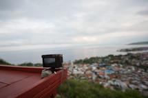 camera on a ledge