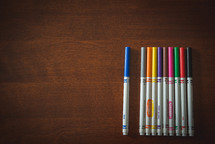 row of colorful markers