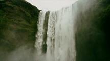 flowing water in a waterfall