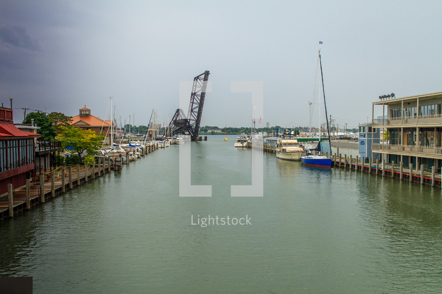 waterway and docked boats
