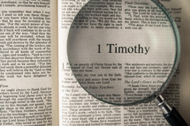 1 Timothy under a magnifying glass