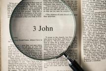 3 John under a magnifying glass