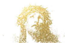 face of Christ sketch