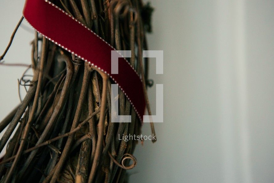twigs and ribbon