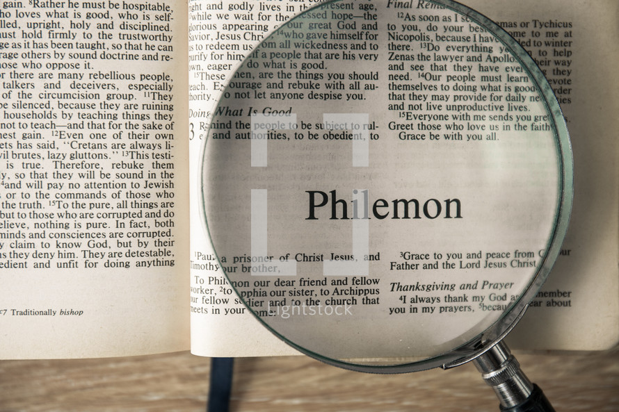 Philemon under a magnifying glass