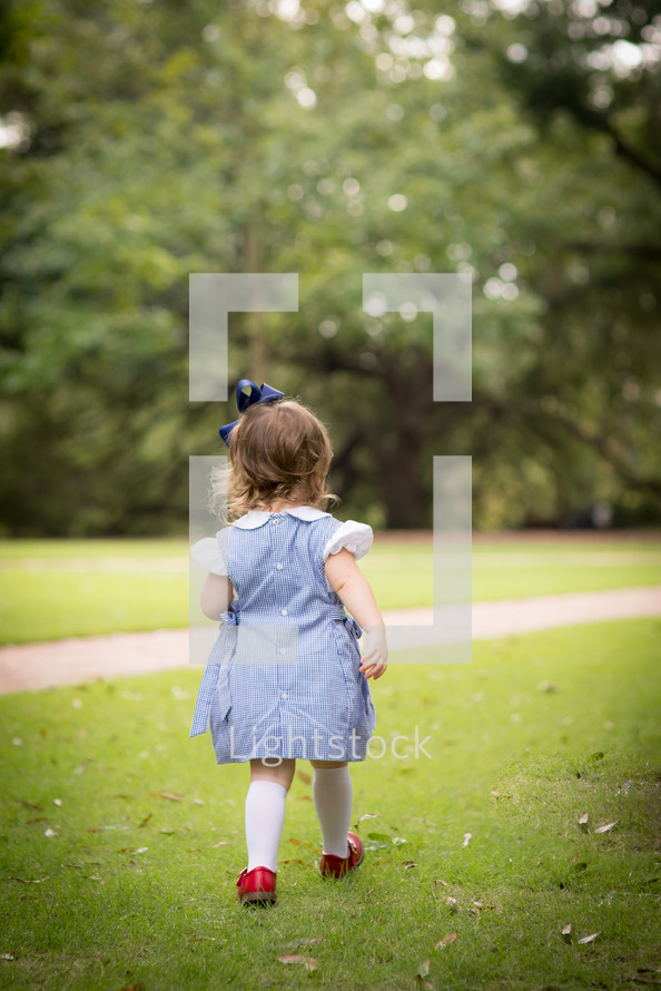 toddler girl in a dress