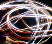 Painting with light.