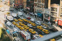 A busy city street