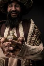 wiseman with the gift of myrrh