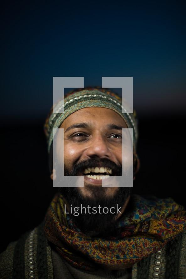 face of a joyous wiseman