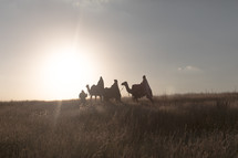 wisemen traveling on camels