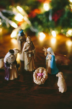 figurines from a Nativity scene