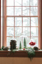 decor in a window sill
