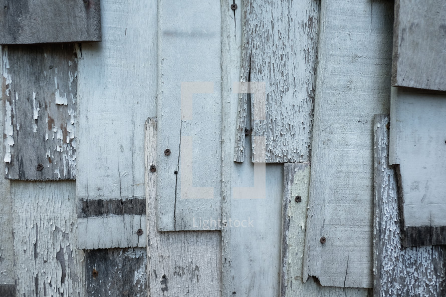 old wood boards nailed together