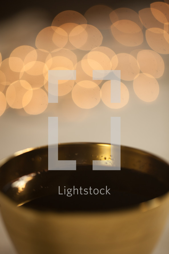 bokeh lights and chalice