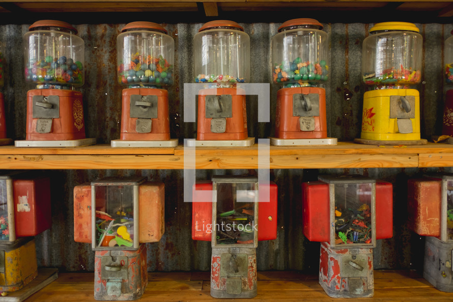 vintage gum ball machines