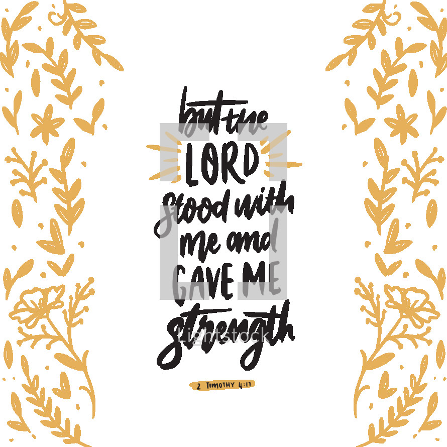 but the lord stood with me and gave me strength, 2 Timothy 4:17
