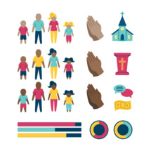 Church Infographic elements. 