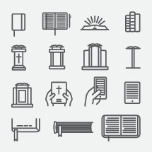 Bible, icons, spine, pages, cover, cellphone, phone, pulpit, tablet, podium, gospel