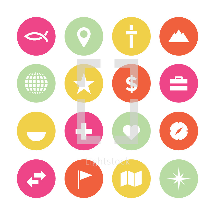 Missionary icon pack.