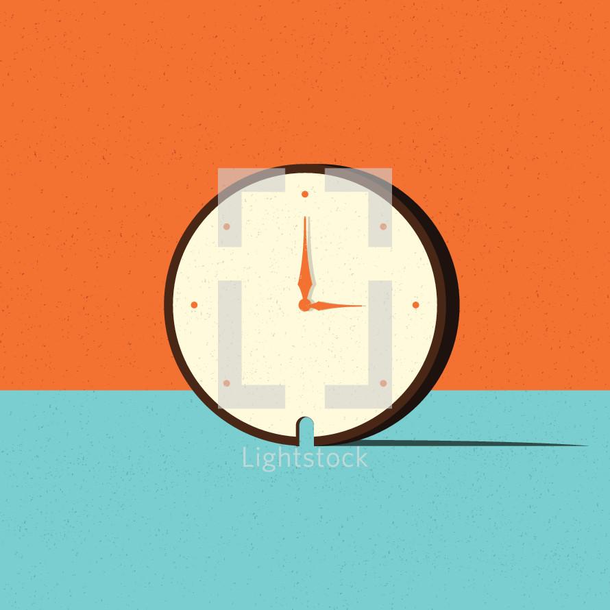 clock with door