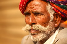 elderly man in turban
