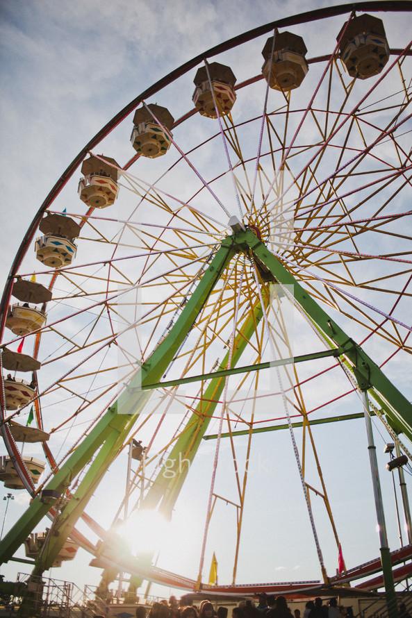 Large ferris wheel