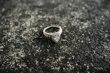 Wedding ring on the ground