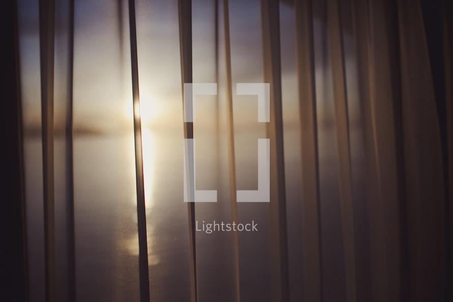 sunlight through curtain sheers