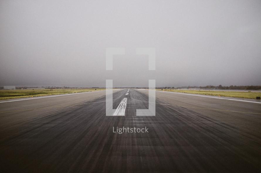 A runway at an airport