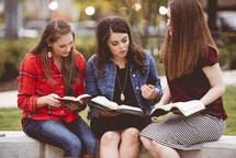 young women's Bible study group