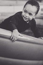 face of an African-American toddler boy