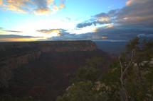 Mountain canyon cliff