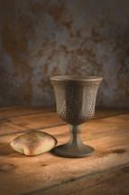 communion wine and bread