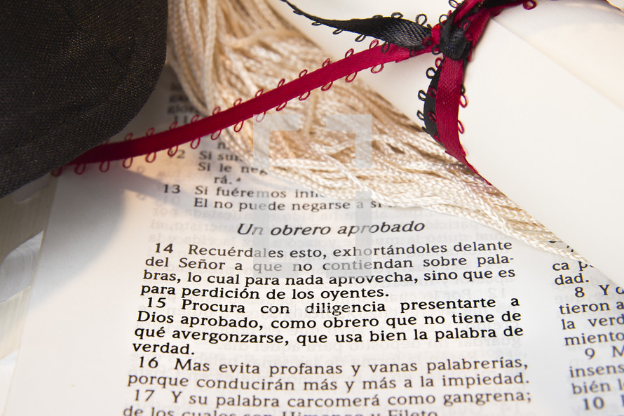 Graduation, Spanish Bible Verse
