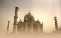 Taj Mahal in a sand storm