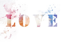 LOVE watercolor type.