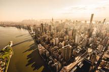 New York City at sunset