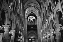 Inside sanctuary of a cathedral
