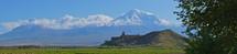 Khor Virap Church with Mt Ararat in the background, Armenia
