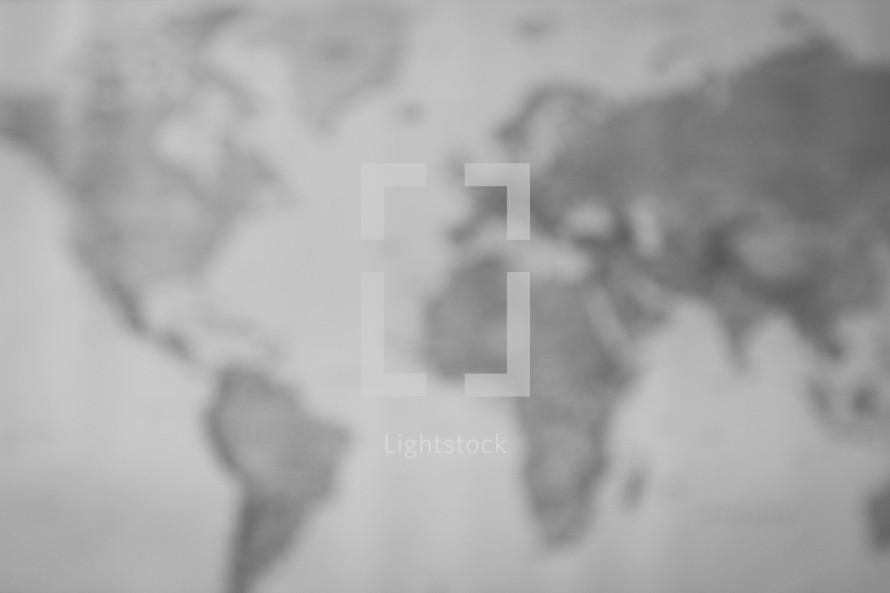 blurry world map